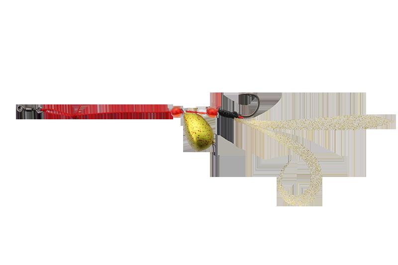 ルアー リグ  エッグショット カーリー GOLD RED FLAKE / ゴールドレッドフレーク